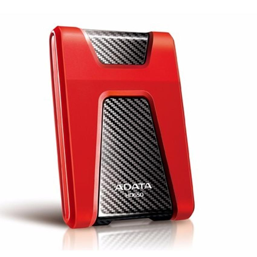 Adata - DashDrive Durable HD650 - 1 TB - Externe harde schijf - HDD - Rood